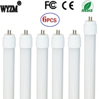 ( US Warehouse ) 6-Pack of 7W 12inch (301mm pin to pin) T5 LED Fluorescent Tube Light F8T5/CW Cool White Frosted Cover-110vAC