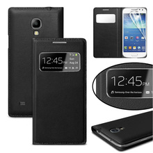 Phone Case For Samsung Galaxy S4 Mini S4 S4mini S 4 GT I9190 I9192 I9195 I9500 GT-I9190 GT-I9192 flip Cover Leather Smart View protective flip open pu leather case w display window for samsung s4 i9500 black