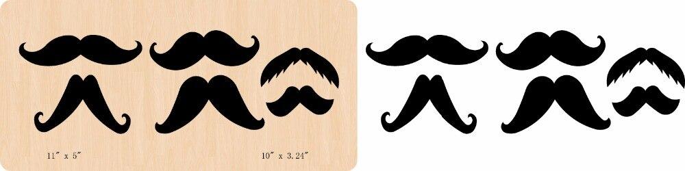 Nouvelle barbe noire en bois die Scrapbooking D-366 matrices de coupe