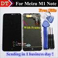 Alta qualidade new display lcd + assembléia tela de toque digitador para meizu m1 note telefone 5.5 polegada preto com ferramentas de quadro