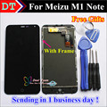 High Quality New LCD Display +Digitizer Touch Screen Assembly For Meizu M1 Note phone 5.5 inch Black With Frame Tools