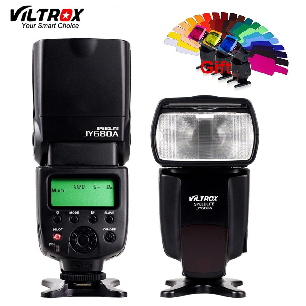 VILTROX JY-680A Universal Camera LCD Flash Speedlite for Canon 1300D 1200D 760D 750D 80D 5D IV 7D Nikon 7200D 5500D 5D 610D 750D universal camera inseesi in 560 iv plus wireless flash or viltrox jy 680a flash speedlite with lcd screen for canon nikon pentax