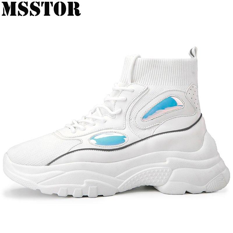 0e4fdbe7cca9 MSSTOR женские мужские кроссовки Большие размеры 35-44 спортивная мужская  обувь брендовые спортивные прогулочные белые