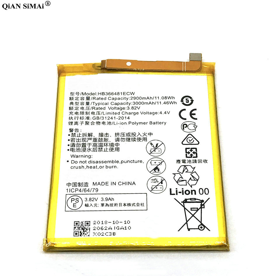 2018 neue Hohe Qualität 3000 mah batterie & reparatur werkzeuge Für Huawei P10 Lite Für Nova Lite G10 WAS-TL10 WAS-AL00 telefon
