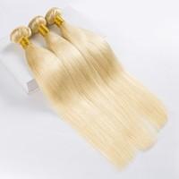 613 Human Hair Bundles Blonde Bundles 8 30 32Inch LONG HAIR Bundles Straight 1/3/4 Bundles Free Shipping