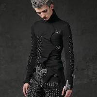 Costumes male singer punk rock Slim long sleeved T shirt stretch hip hop nightclub male youth Harajuku fashion people