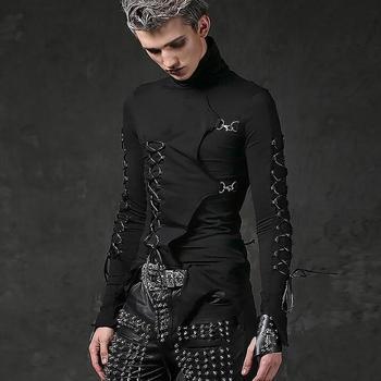 Costumes male singer punk rock Slim long-sleeved T-shirt stretch hip hop nightclub male youth Harajuku fashion people