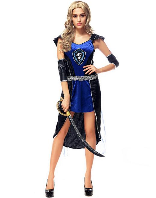 Halloween Greek Goddess blue dresses cosplay gladiators vestidos Costumes Queen sexy fantasia adulto clothing club playing