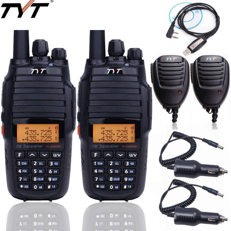 2pcs TYT TH UV8000D 10W walkie talkie Cross band Repeater 136 174/400 520MHz long rang dual band Handheld FM Transceiver radio