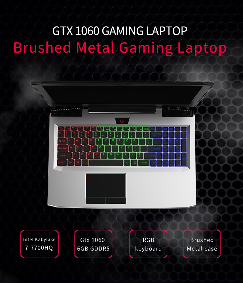 BBen G16 15.6'' Laptop Windows 10 Intel i7 7700HQ GTX1060 16GB RAM 256GB SSD 1T HDD Metal Case Backlit Keyboard IPS WiFi BT4.0