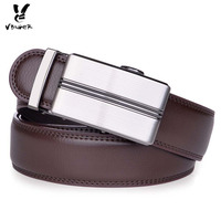 High End Genuine Top Level Cowhide Belt With Automatic Buckle In Brown