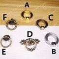 Anel Puxa mobiliário de estilo Antigo de cobre botão/pull/anel para lidar com as portas/armários/armário