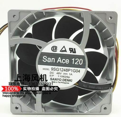Original SANYO 48V 9SG1248P1G04 1A High speed 12cm12038 120 * 120 * 38MM Cooling fan delta 12038 12v cooling fan afb1212ehe afb1212he afb1212hhe afb1212le afb1212she afb1212vhe afb1212me