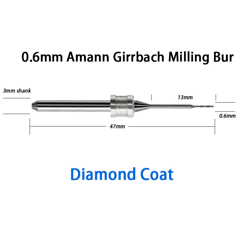 ФОТО 0.6mm Milling Burs with Diamond Coat for Amann Girrbach Mill System