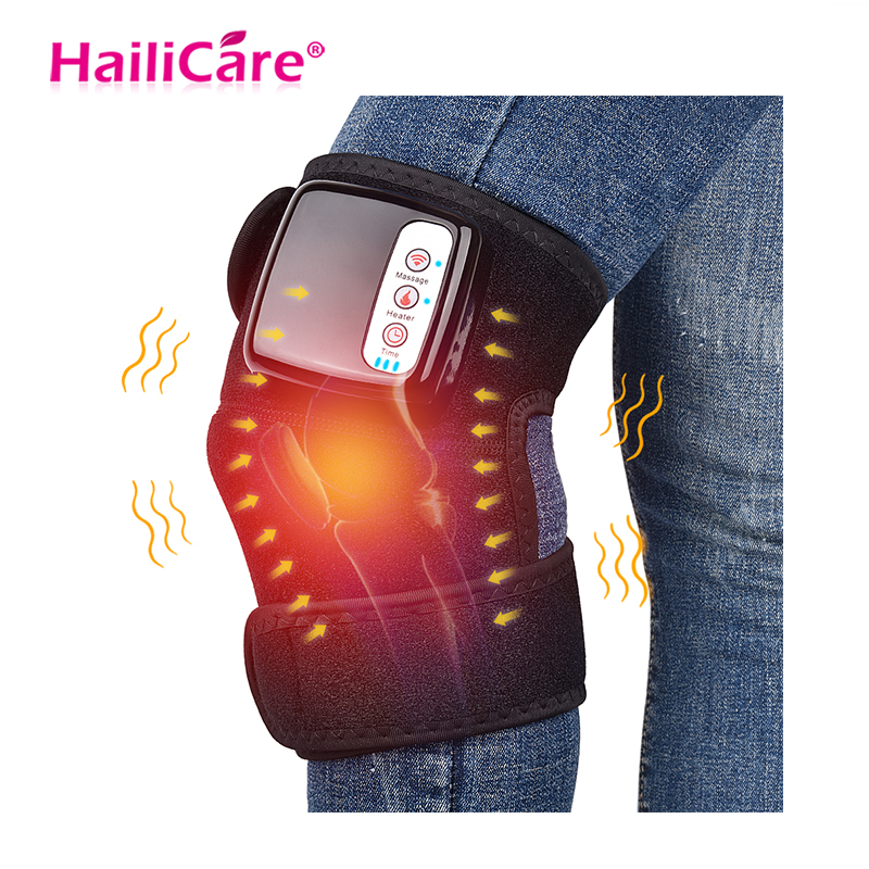 Knee Heat Massager Protable Knee Wrap Massager for Joint Pain Relief Physical Treatment Cordless Rechargeable Health