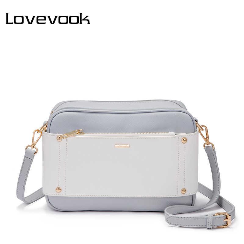 LOVEVOOK сумка женская через плечо маленькая женские сумки на плечо с двумя ременями для школы дамские сумки из ПУ и Оксфорда высокавого качества школьная сумочка для девочек 2018