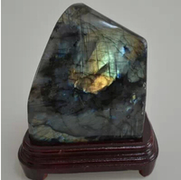 330g 400g Natural blue moonlight labradorite furnishing articles Blue moon orange moon violet moonlight play pieces