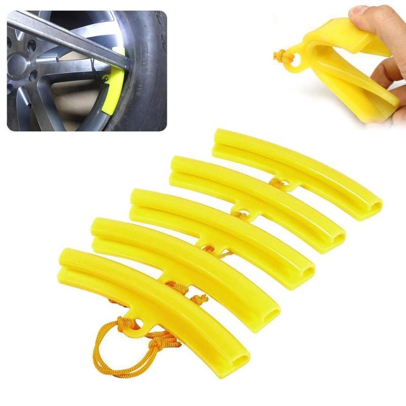 5Pcs Rubber Tire Changer Guard Rim Protector Wheel Changing Rim Edge Savers Tools Yellow Car Wheels Tires Repair Accessories Hot
