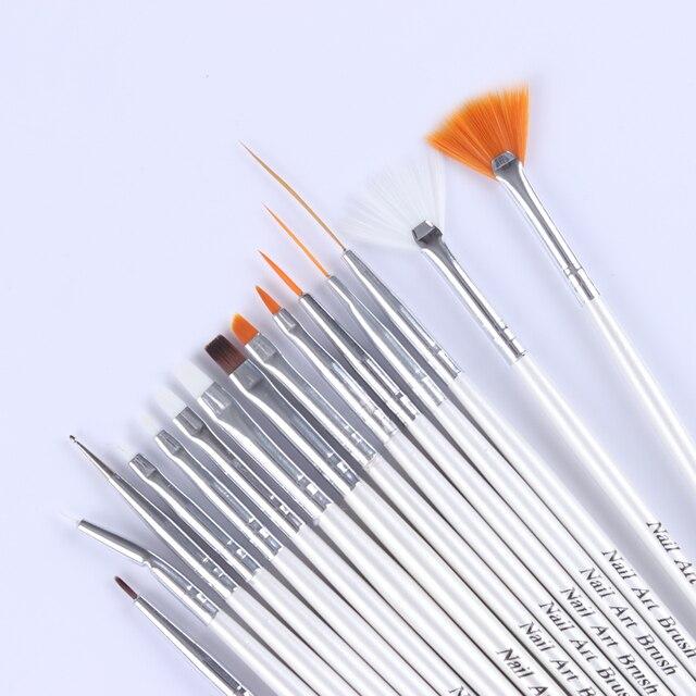 15 Stks Nail Art Design Brush Set Puntjes Borstel Liner Dot