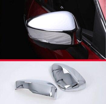 Per Mitsubishi ECLIPSE CROCE 2018 2019 ABS Chrome Side Door Specchio Copertura Trim Posteriore Cap Overlay Stampaggio Guarnisce