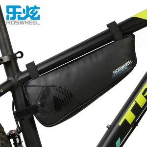 Велосипедная сумка Roswheel 1680D, нейлоновая водонепроницаемая сумка на верхнюю трубу для велосипеда, треугольные седельные сумки, аксессуары, с...