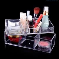 PS Makijaż Organizator Kosmetyczne Case Crystal Clear Biżuteria Schowek Wymaz