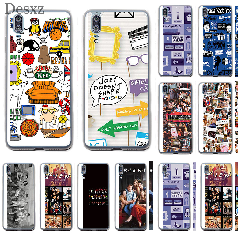 Phone Case Cover Friends Tv For Huawei P8 P9 P10 P20 Pro Lite 2015 2016 2017 Mini Plus Note 8 9 P Smart image