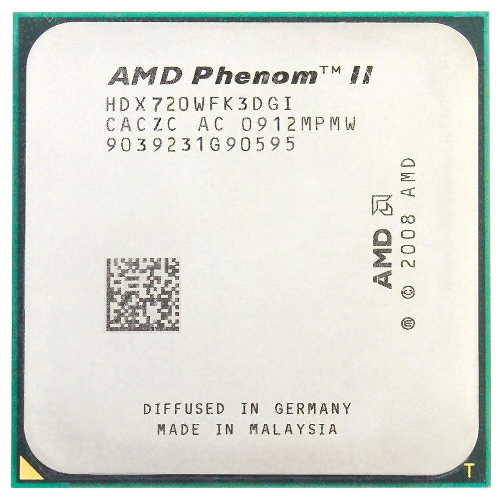 AMD Phenom II X3 720 Triple-Core 2.8 Ghz/6 M/95 W/2000 GHz CPU processeur Socket AM3 AM2 + 938 broches