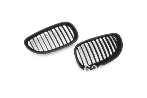 Replacement Euro Style Matte Black Front Grille For BMW E60 04-10 5 SeriesReplacement Euro Style Matte Black Front Grille For BMW E60 04-10 5 Series