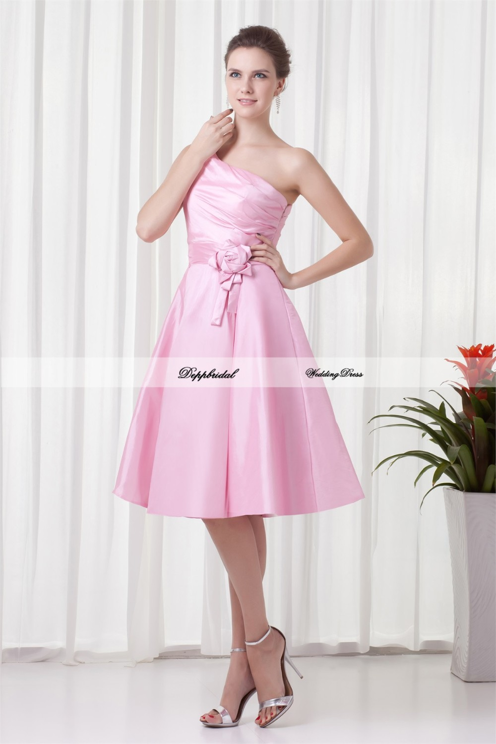 Handmade-Flower-s-A-Line-Tea-Length-One-Shoulder-Bridesmaid-Dresses-22708-80841