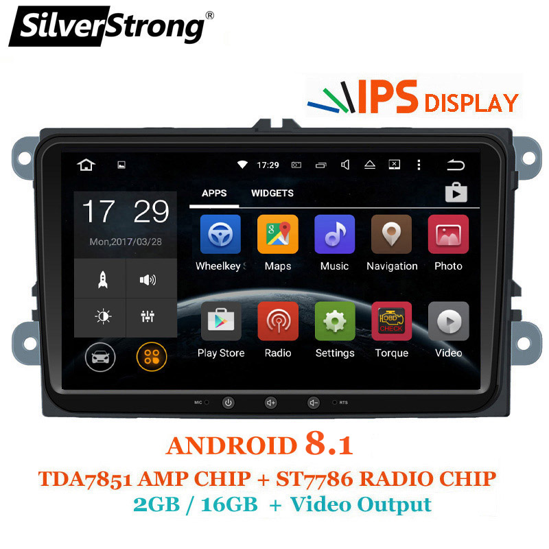 SilverStrong 2Din Android8.1 IPS Passat Radio Stereo per Volkswagen Golf6 V W Golf5 JETTA POLO GPS Per Skoda Octavia Wifi 901
