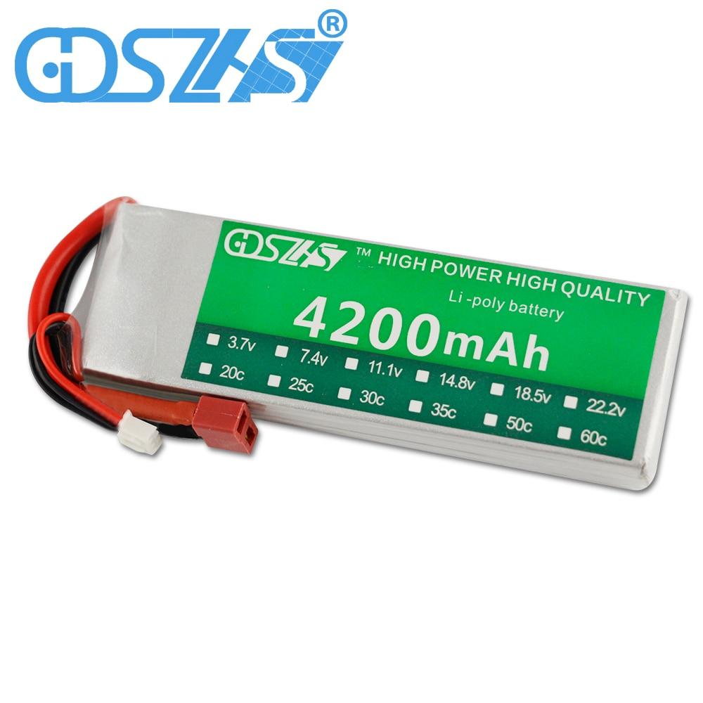 все цены на GDSZHS Power 7.4V 4200mAh Lipo Battery 30C 2S Battery 2S LiPo 7.4 V 4200mAh 30C 2S 1P Lithium-Polymer Batterie For RC Car онлайн