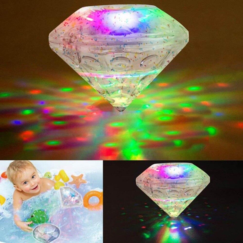 1 Pc Kunststoff Elektrische Blinkende Bade Spielzeug Baden Spielzeug Badewanne Led Licht Dusche Diamant Wasserdichte Bunte Baby Kinder Bad Spielzeug üBereinstimmung In Farbe