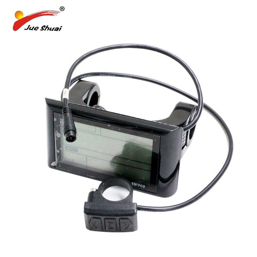 цена на Electric Bicycle Computer E-Bike 36V/48V LCD Display Speedometer Mount Bike Edge Odometer Sensor Meter Watch Monitor Waterproof