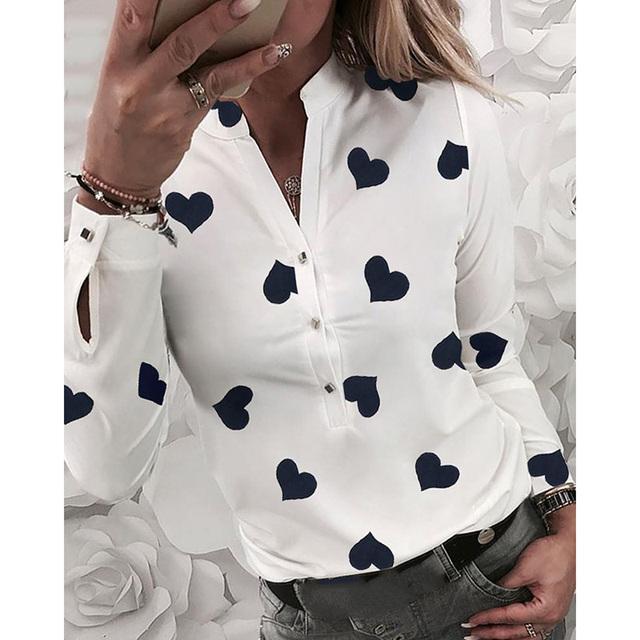 White Womens Summer Long Sleeve Shirt