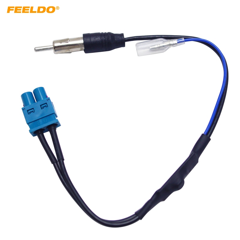 FEELDO พิเศษคู่ FAKRA RF วิทยุเสาอากาศอะแดปเตอร์สำหรับโฟล์คสวาเกน RNS510 (MFD3) / RCD510 / 310 / Jetta / กอล์ฟ / MK5 / MK6 / Passat B6 / B7 / Tiguan