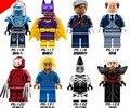 Super Heroes Бэтмен Мини Мэр Т Batgirl Мистер Фриз Кабуки Cnins Зебра Человек Сорока Кино Цифры Строительные Блоки Игрушки Legoed