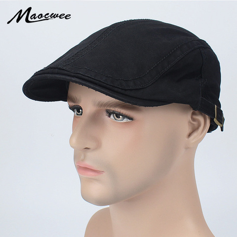 Adjustable Man Beret Caps Spring Summer Outdoor Sun Breathable Bone Brim Hats ailor Gorras Patrol Caps Fashion Male Hat Beret Pakistan