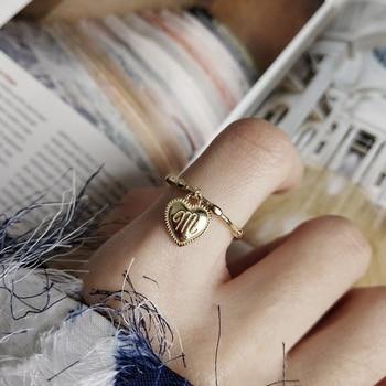 Plata de Ley 925 plateada, anillos de corazón y letras M, diseño de hebilla de corazón de nudo dorado, anillos nuevos de moda 2019 para joyería de oro de mujeres
