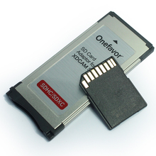 Factory Price !!! 2pcs Express Card Expresscard Card reader Adapter Utral high speed 34mm supports SD SDHX SDXC memory card