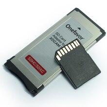 Prix dusine!!! 2 pièces Express carte Expresscard lecteur adaptateur Utral haute vitesse 34mm prend en charge SD SDHX SDXC carte mémoire