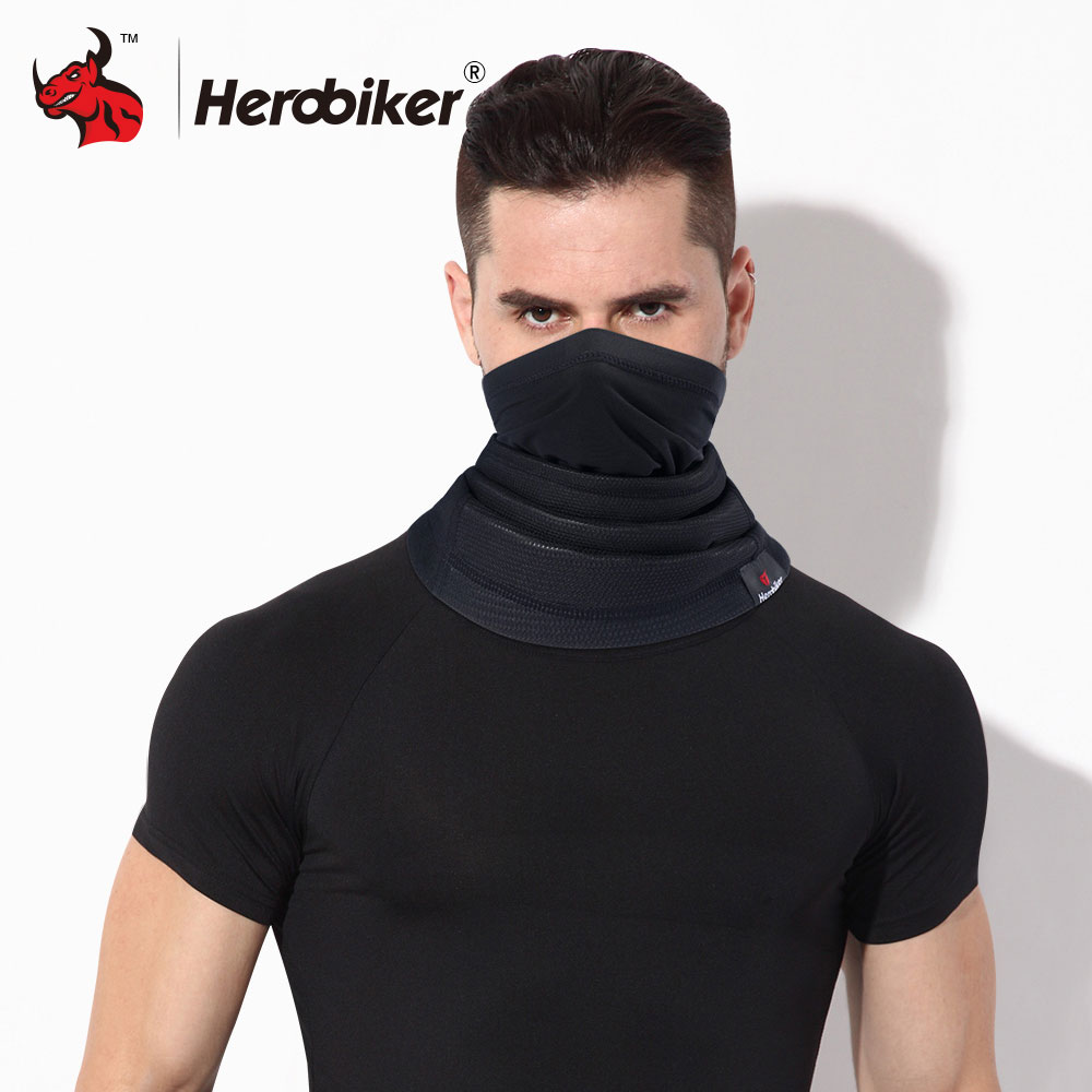 HEROBIKER Motorcycle Mask Winter Thermal Fleece Balaclava Hat Hood Bike Wind Stopper Face Mask Men women Neck Warmer Fleece long keeper 10pc lot balaclava winter men women skullies face neck mask cap thermal winter cyling bike riding running hat