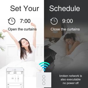 Image 5 - Tuya חכם חיים WiFi וילון מתג חשמלי ממונע וילון עיוור רולר תריס, Google בית, אמזון Alexa קול שליטה
