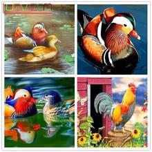 5D DIY Diamond Painting mandarin DuckFull Square Embroidery Cross Stitch  Mosaic Home Decor Gift