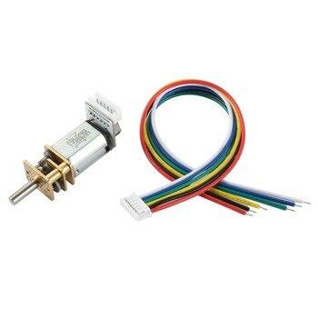 UXCELL DC caliente 12 V 1000 rpm Mini reducción de velocidad Motor Micro eléctrico del engranaje caja con cables 3mm diámetro eje para codificar juguetes eléctricos