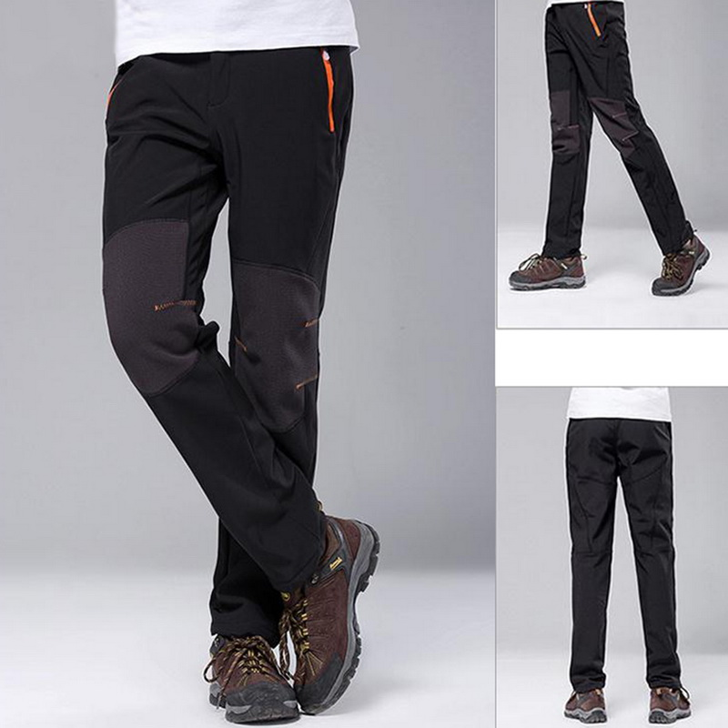 Laamei Trousers Winter Outdoor-Pants Fleece Bodybuilding Waterproof Men's Fashion Autumn