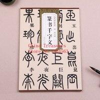 Seal Character Chinese Calligraphy Book Deng Shiru Zhuan Shu Thousand Character Classic Shu Fa Mao Bi Zi,63pages 29*21cm