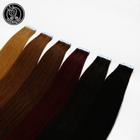 Fairy Remy Hair 2.0g/pc 22 Inch Tape In Natural Human Hair Extensions Ash Blonde European Skin Weft Remy Hair Extension 40g/pac