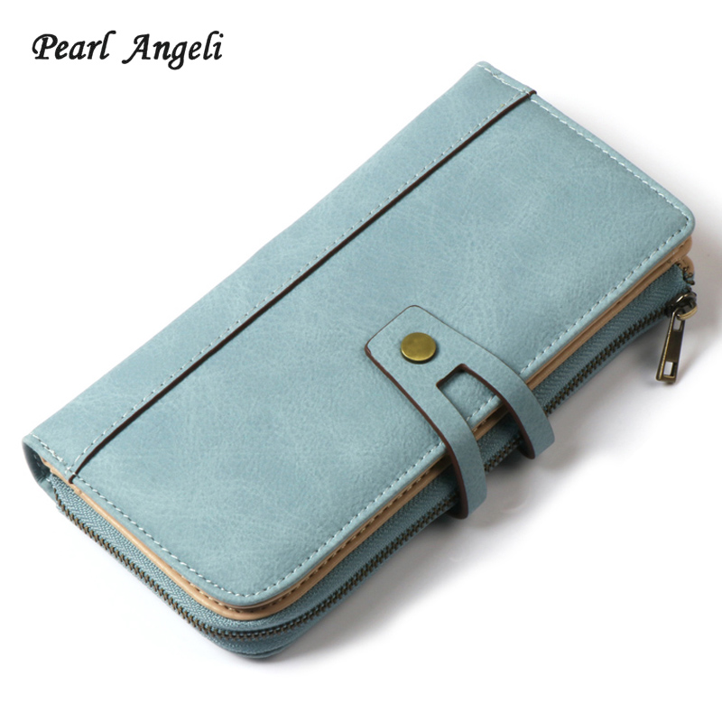 2018Women Wallet Long Designer PU Leather Coin Purse Ladies Clutch Credit Card Holders Hasp Clutch Purse Money Bag Wallet Female men wallet double zippers business clutch handbag purse pu leather coin card holders purses lt88