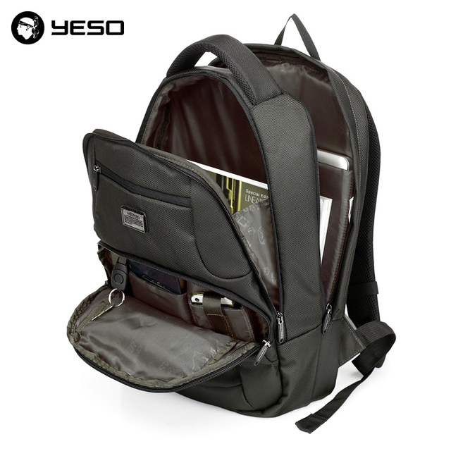 YESO Business Travel Laptop Men Backpack 14 15.6 inch Multifuntion Bag College School Bags Waterproof Oxford Notebook Backpacks